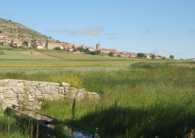 Vista de Saldón desde La Vega